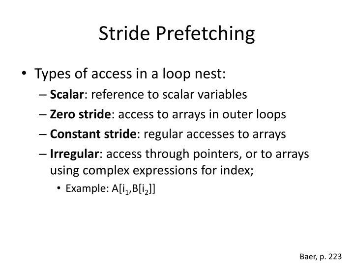 Stride Prefetching