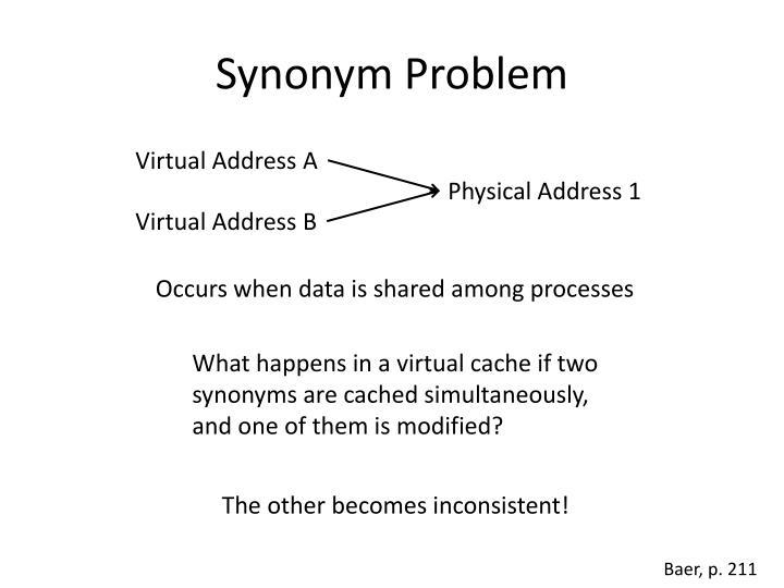 Synonym Problem