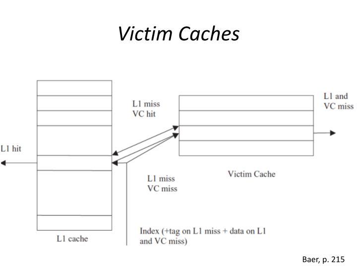 Victim Caches