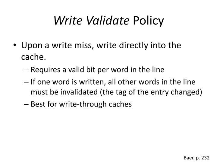 Write Validate