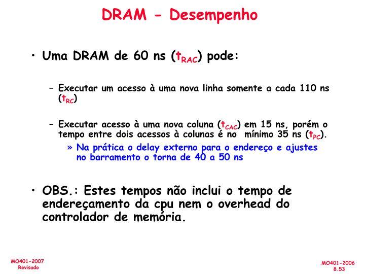 DRAM - Desempenho