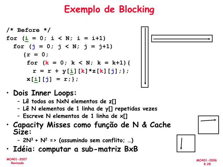 Exemplo de Blocking