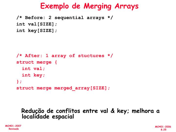 Exemplo de Merging Arrays