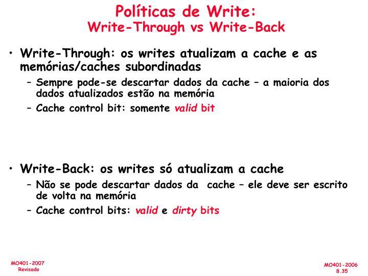 Políticas de Write: