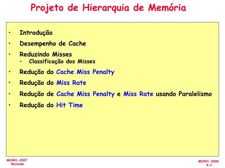 Projeto de Hierarquia de Memória