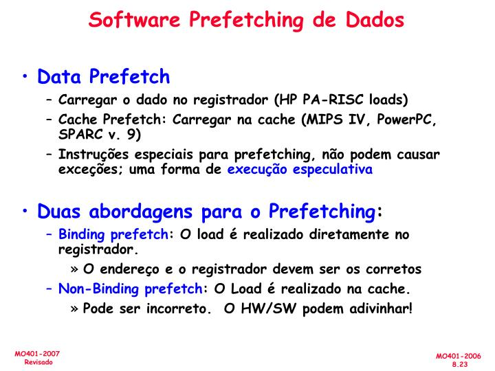 Software Prefetching de Dados