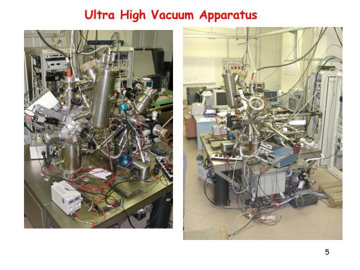 Ultra High Vacuum Apparatus