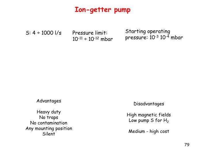 Ion-getter pump