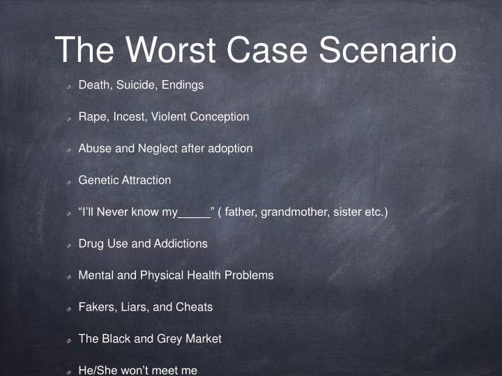 The Worst Case Scenario