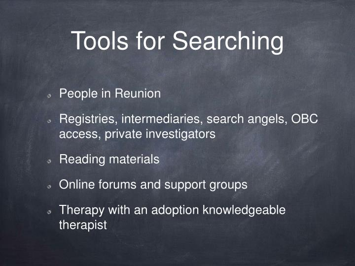Tools for Searching