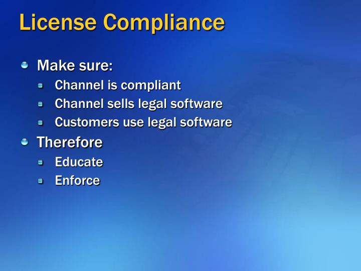 License compliance