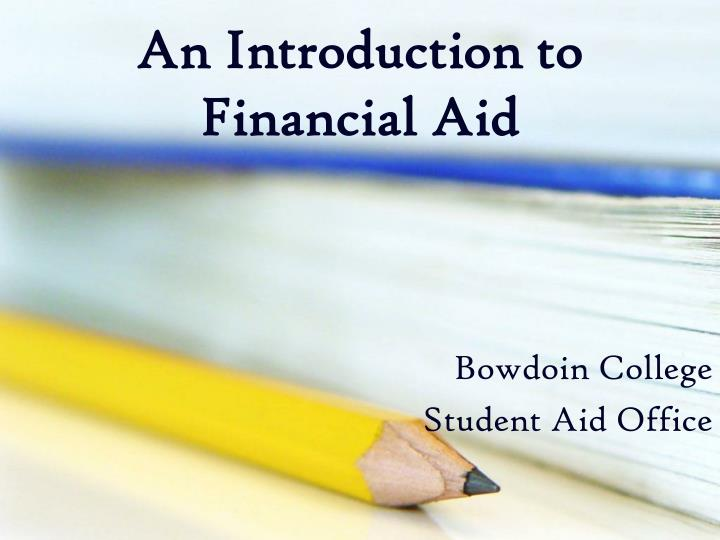 An introduction to financial aid