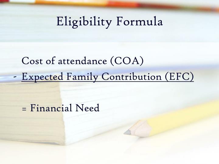 Eligibility Formula