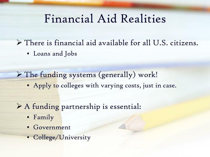 Financial Aid Realities
