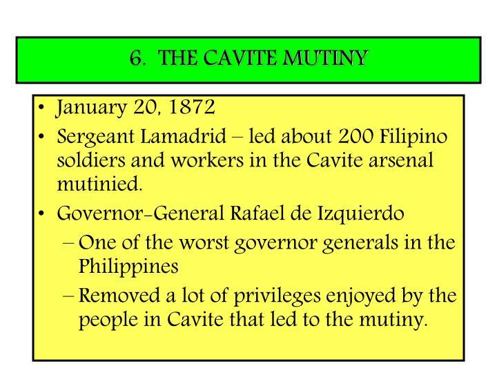 6.  THE CAVITE MUTINY