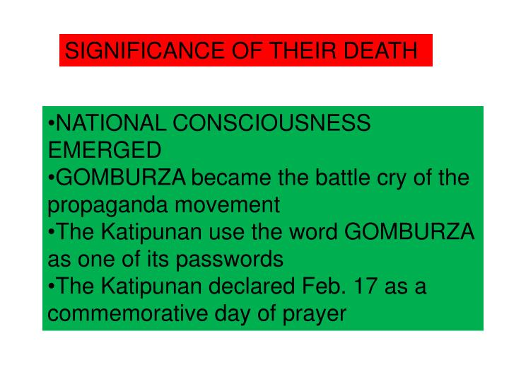 SIGNIFICANCE OF THEIR DEATH