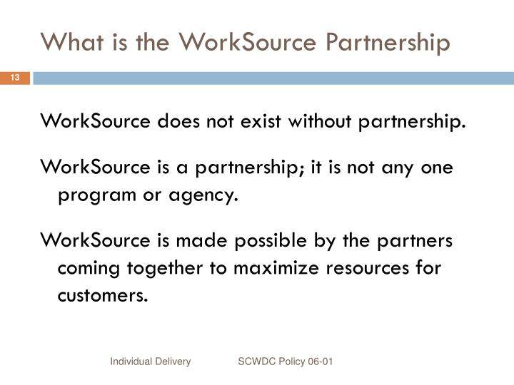 What is the WorkSource Partnership