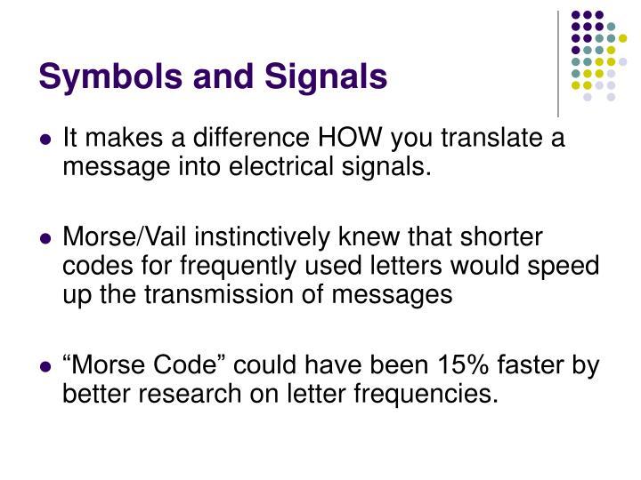 Symbols and Signals