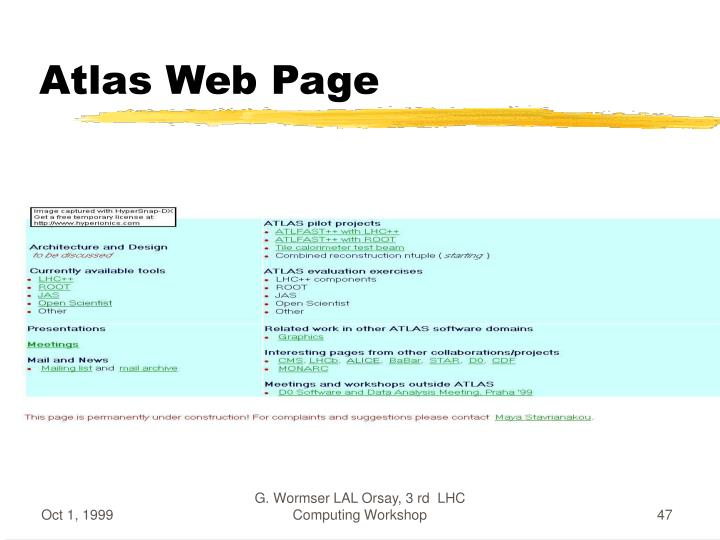 Atlas Web Page
