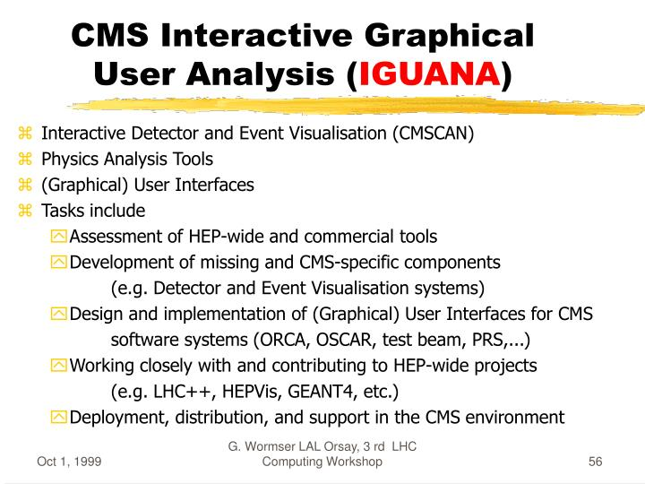 CMS Interactive Graphical User Analysis (