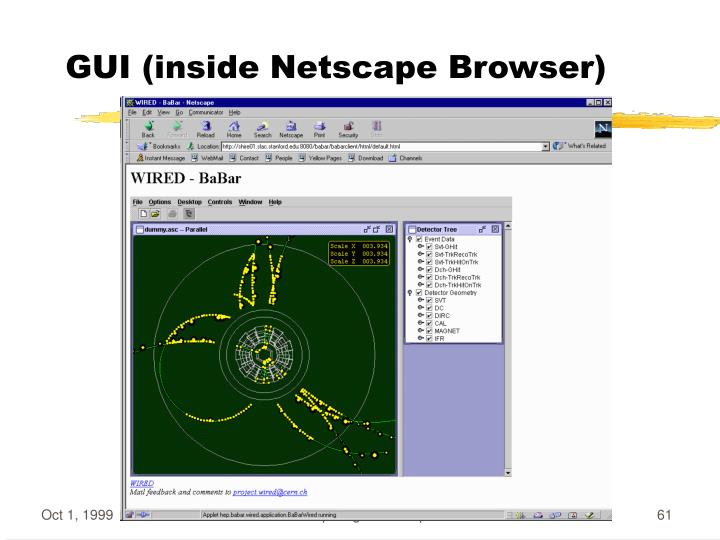 GUI (inside Netscape Browser)