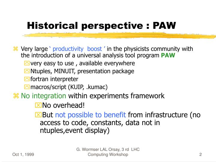 Historical perspective paw