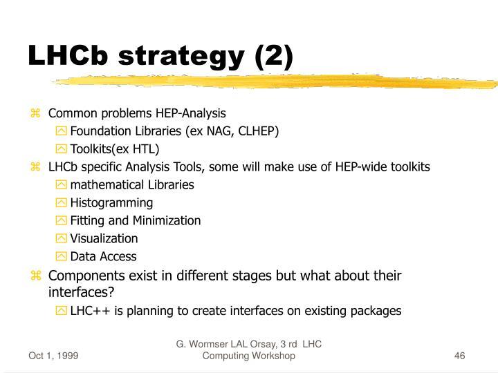 LHCb strategy (2)