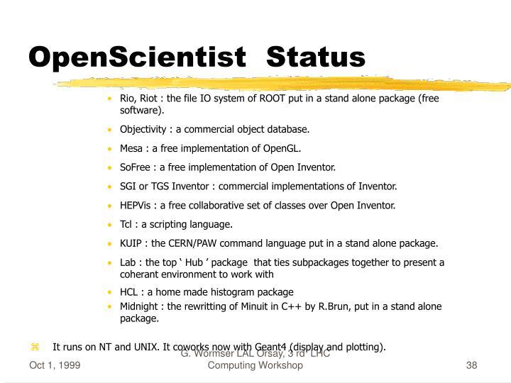 OpenScientist  Status