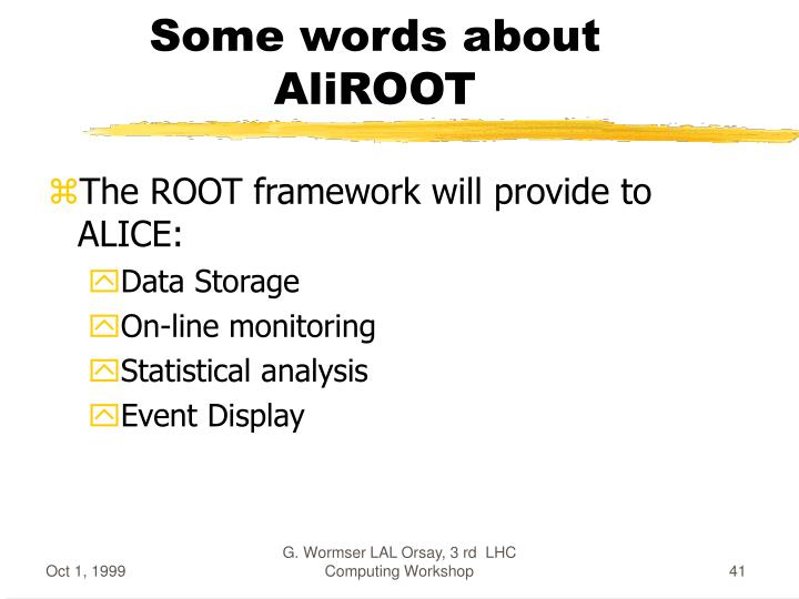 Some words about AliROOT