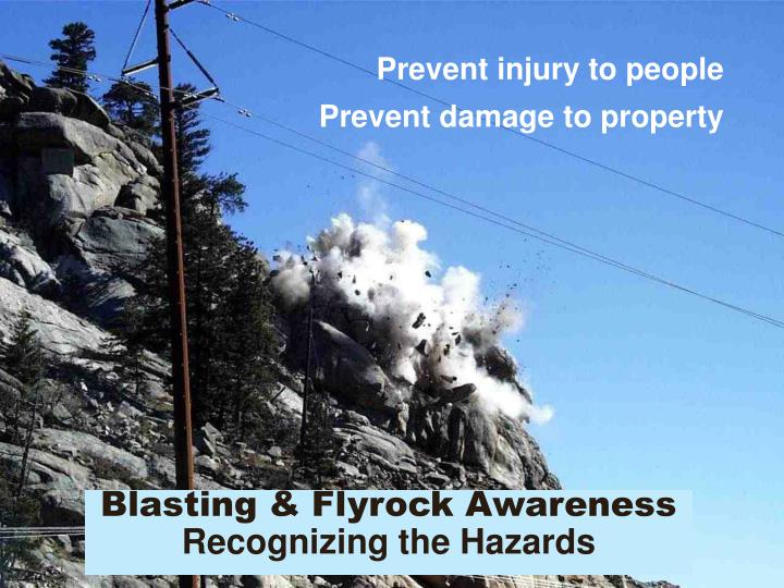 Prevent injury to people