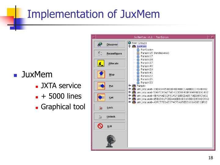 Implementation of JuxMem