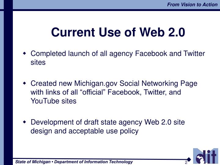 Current use of web 2 0