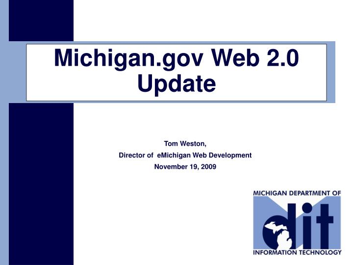 Michigan gov web 2 0 update