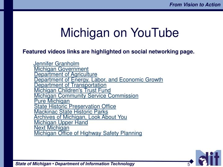 Michigan on YouTube