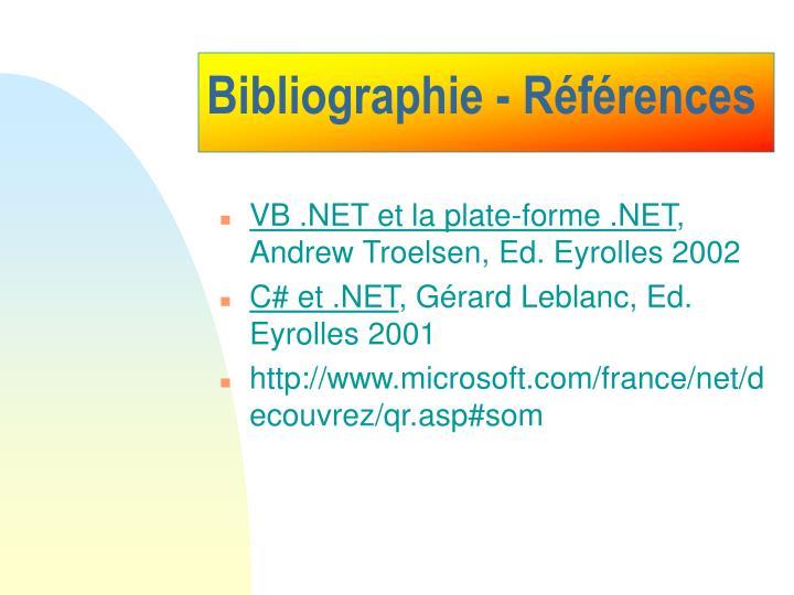 Bibliographie - Références