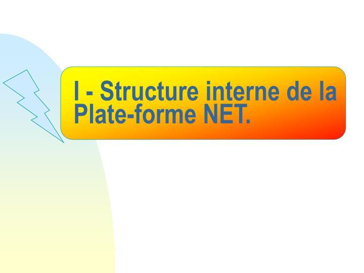 I - Structure interne de la Plate-forme NET.