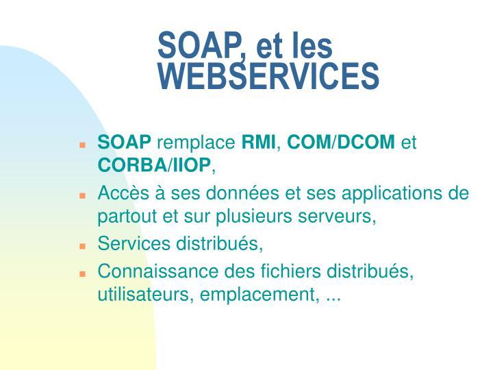 SOAP, et les WEBSERVICES