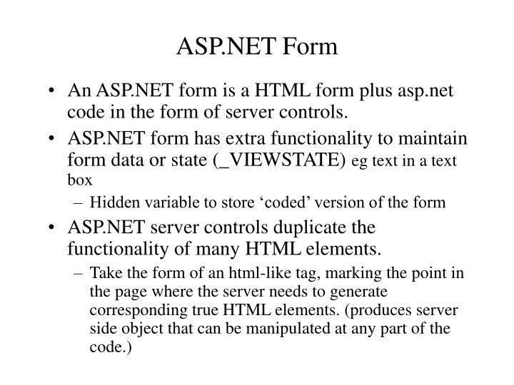 ASP.NET Form