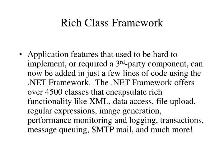 Rich Class Framework
