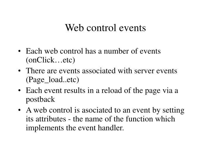 Web control events