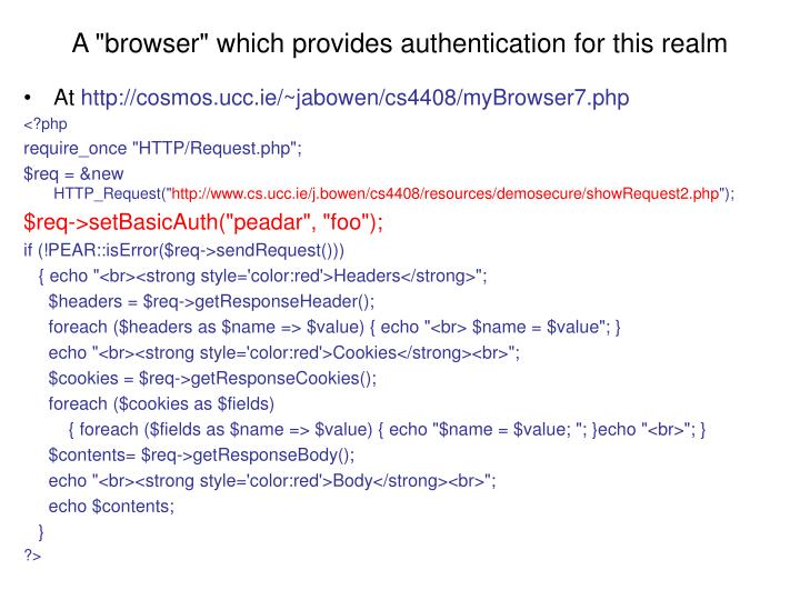 """A """"browser"""" which provides authentication for this realm"""