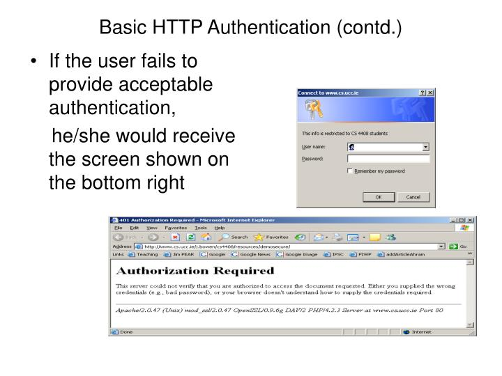 Basic HTTP Authentication (contd.)