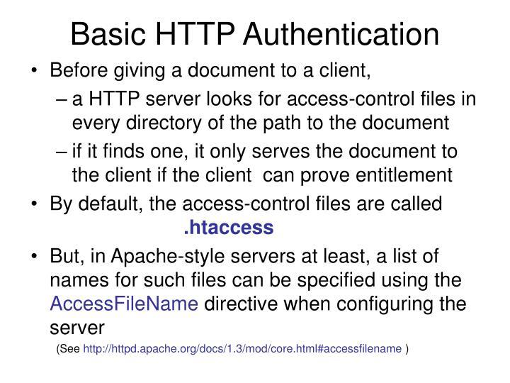 Basic HTTP Authentication
