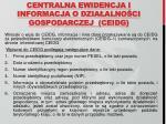 centralna ewidencja i informacja o dzia alno ci gospodarczej ceidg1