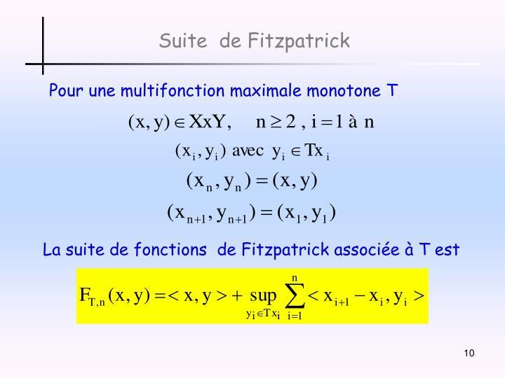 Suite  de Fitzpatrick