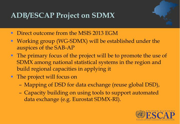 ADB/ESCAP Project on SDMX