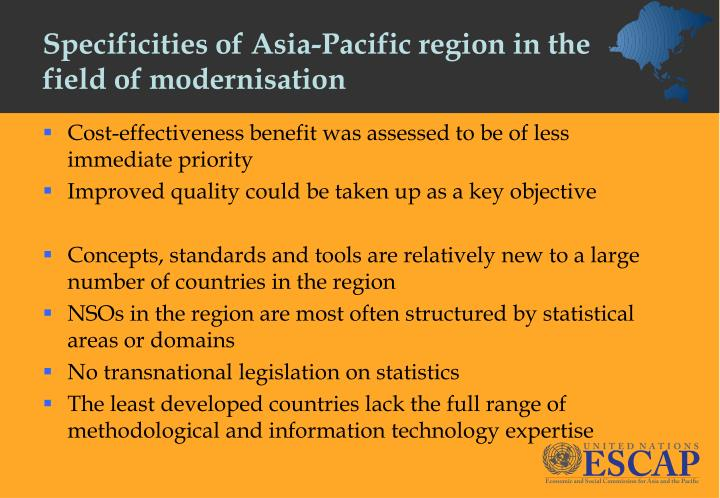 Specificities of Asia-Pacific region in the field of modernisation
