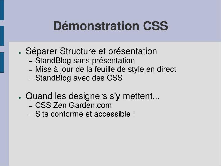 Démonstration CSS