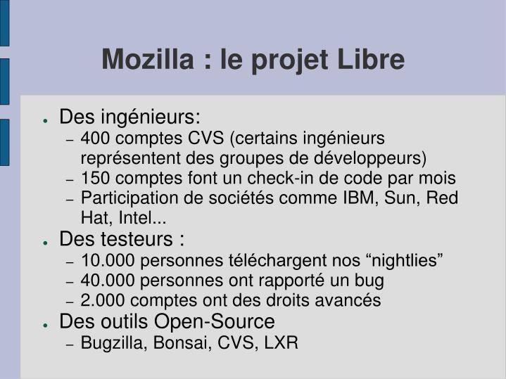 Mozilla : le projet Libre