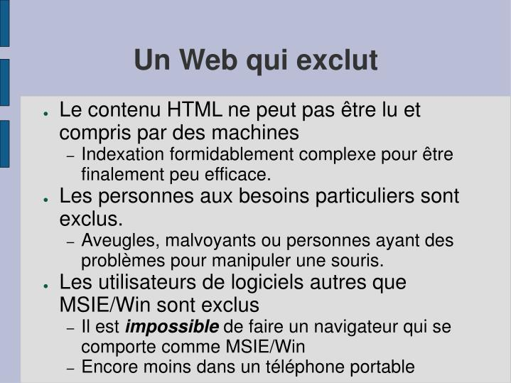 Un Web qui exclut